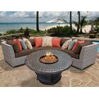 Florence 4 Piece Sectional Set with Cushions Fabric: Cocoa