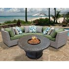 Florence 4 Piece Sectional Set with Cushions Fabric: Cilantro