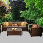 Barbados 6 Piece Sectional Set with Cushions Color: Cocoa