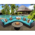 Barbados 6 Piece Sectional Set with Cushions Color: Aruba