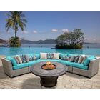 Florence 6 Piece Sectional Set with Cushions Fabric: Aruba