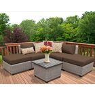 Florence 6 Piece Sectional Set with Cushions Fabric: Cocoa