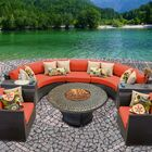 Barbados 8 Piece Sectional Set with Cushions Color: Tangerine