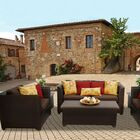 Barbados 7 Piece Sofa Set with Cushions Color: Cocoa