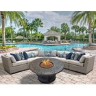 Florence 6 Piece Sectional Set with Cushions Fabric: Beige
