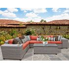 Florence 9 Piece Sectional Set with Cushions Fabric: Tangerine