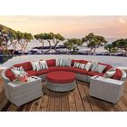 Florence 8 Piece Sectional Set with Cushions Fabric: Terracotta