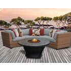 Asellus 4 Piece Sectional Set with Cushions Color: Gray