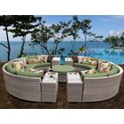 Florence 11 Piece Sectional Set with Cushions Fabric: Cilantro