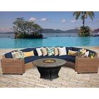 Asellus 6 Piece Sectional Set with Cushions Color: Navy