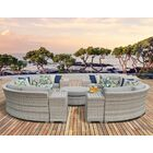 Ansonia 11 Piece Sectional Set with Cushions Color: Gray