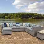 Florence 9 Piece Sectional Set with Cushions Fabric: Gray