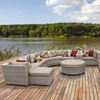 Florence 12 Piece Sectional Set with Cushions Fabric: Wheat