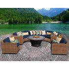 McCarney 8 Piece Sectional Set with Cushions Color: Aruba