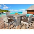 Ansonia 5 Piece Dining Set with Cushions Color: Cocoa