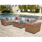 East Village 8 Piece Rattan Sectional Seating Group with Cushions Color: Gray