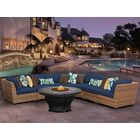 East Village 6 Piece Sectional Set With Cushions Color: Navy
