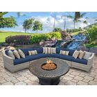 Ansonia 6 Piece Sofa Set with Cushions Color: Navy