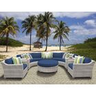 Ansonia 8 Piece Sectional Set with Cushions Color: Navy