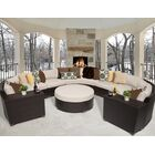 Barbados 8 Piece Rattan Sectional Set with Cushions Color: Beige
