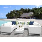 Miami 9 Piece Sectional Set with Cushions Fabric: White