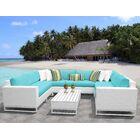 Miami 9 Piece Sectional Set with Cushions Fabric: Aruba