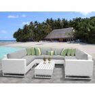 Miami 9 Piece Sectional Set with Cushions Fabric: Gray