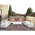 Miami 12 Piece Sectional Set with Cushions Fabric: Wheat