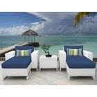 Miami 5 Piece Conversation Set with Cushions Fabric: Navy