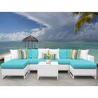 Miami 7 Piece Sectional Set with Cushions Fabric: Aruba