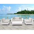 Miami 7 Piece Sofa Set with Cushions Fabric: Beige