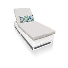 Miami Chaise Lounge with Cushion Fabric: Beige