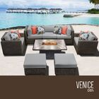 Eldredge 8 Piece Sectional Set with Cushions Cushion Color: Gray