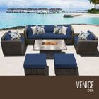 Eldredge 8 Piece Sectional Set with Cushions Cushion Color: Navy