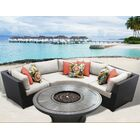 Barbados 4 Piece Rattan Sectional Set with Cushions Cushion Color: Beige