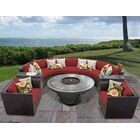Barbados 8 Piece Sectional Set with Cushions Cushion Color: Terracotta