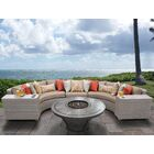 Florence 6 Piece Sectional Set with Cushions Cushion Color: Wheat