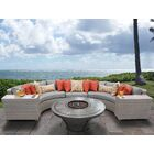 Florence 6 Piece Sectional Set with Cushions Cushion Color: Gray