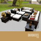 Barbados 12 Piece Sectional Set with Cushions Fabric: White