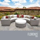 Florence 6 Piece Sectional Set with Cushions Fabric: White
