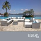 Florence 13 Piece Sectional Set with Cushions Fabric: White