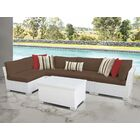 Monaco 6 Piece Sectional Set with Cushions Cushion Color (Fabric): Cocoa