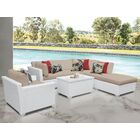 Monaco 7 Piece Sectional Set with Cushions Cushion Color (Fabric): Wheat