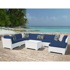 Monaco 9 Piece Sectional Set with Cushions Cushion Color (Fabric): Navy
