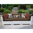 Monaco Patio Sectional with Cushions Color: Cocoa