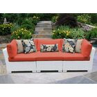 Monaco Patio Sectional with Cushions Color: Tangerine