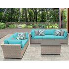 Monterey 6 Piece Sofa Set with Cushions Color: Aruba