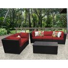 Barbados 6 Piece Sofa Set with Cushions Color: Terracotta