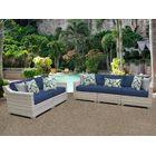 Fairmont 5 Piece Sofa Set with Cushions Color: Navy