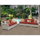 Fairmont 5 Piece Sofa Set with Cushions Color: Terracotta